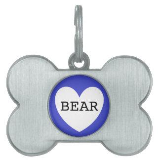 ❤️  BEAR pet tag by DAL