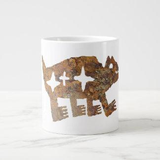 Bear Petroglyph with three stars Giant Coffee Mug