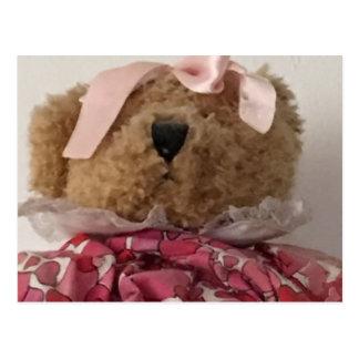 Bear pink postcard