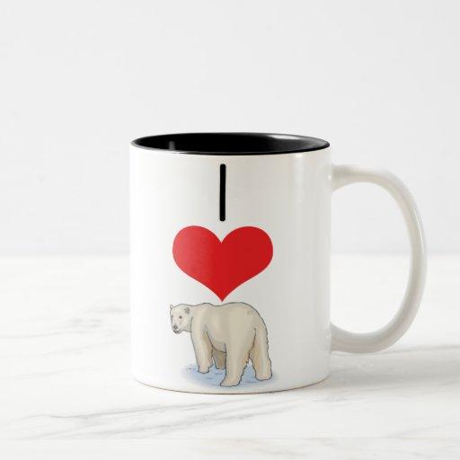 bear,polar coffee mugs