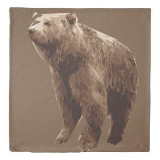 Bear polygon art illustration duvet cover