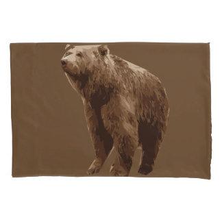 Bear polygon art illustration pillowcase