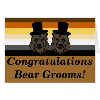 Bear Pride Bears Gay Wedding Congratulations Card
