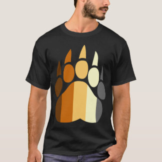 Bear Pride Colors Paw T-Shirt