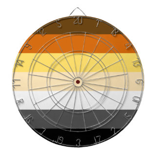 Bear Pride Flag Dartboard for Gay Men