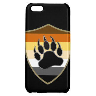 Bear Pride Shield Bear Paw - iPhone 5 Glossy Case Cover For iPhone 5C