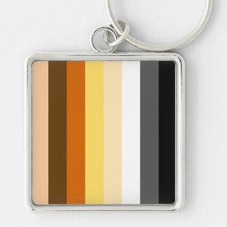 Bear Pride Stripes Keychain
