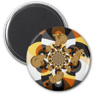 Bear Pride Swirly Magnet
