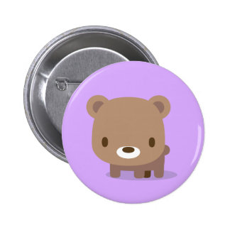 bear purple pins 缶バッジピンバック