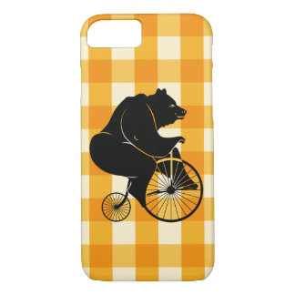Bear Riding a Penny Farthing Bike Case-Mate iPhone Case