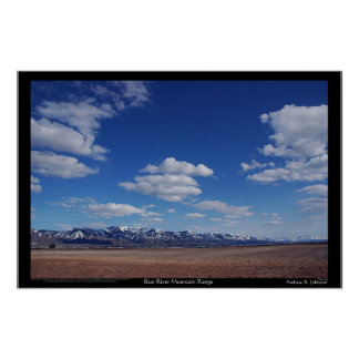 Bear River Mountain Range Poster