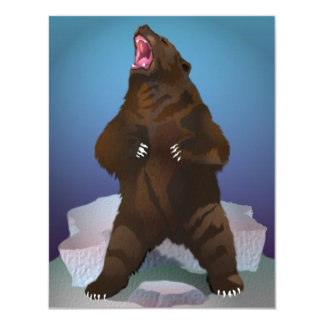 BEAR ROARS ROARING GOOD TIME PARTY INVITATIONS