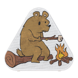 bear roasting marshmallows blueooth speaker