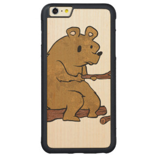 bear roasting marshmallows carved® maple iPhone 6 plus bumper case
