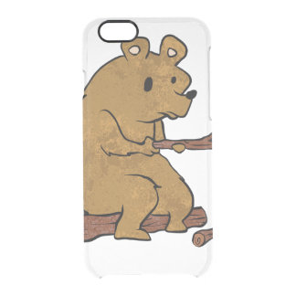 bear roasting marshmallows clear iPhone 6/6S case