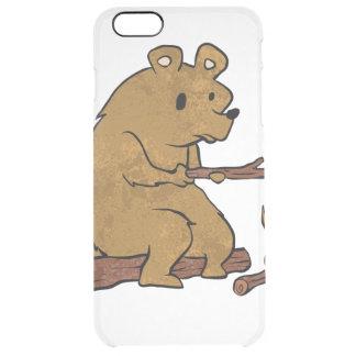 bear roasting marshmallows clear iPhone 6 plus case