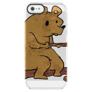 bear roasting marshmallows clear iPhone SE/5/5s case