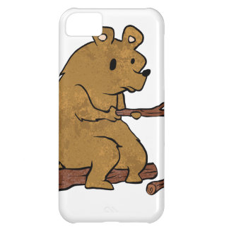 bear roasting marshmallows cover for iPhone 5C