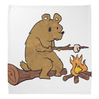 bear roasting marshmallows do-rags