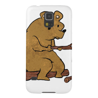 bear roasting marshmallows galaxy s5 covers