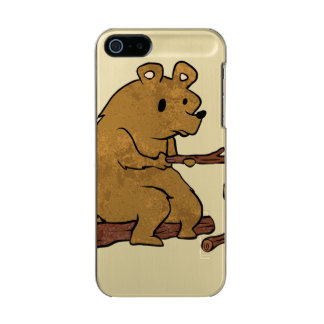 bear roasting marshmallows incipio feather® shine iPhone 5 case