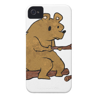 bear roasting marshmallows iPhone 4 Case-Mate case