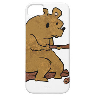 bear roasting marshmallows iPhone 5 case