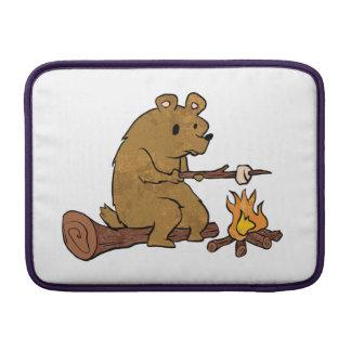 bear roasting marshmallows MacBook air sleeve