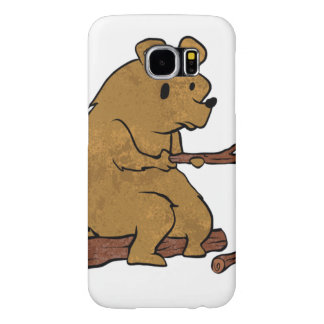 bear roasting marshmallows samsung galaxy s6 cases