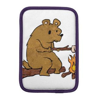 bear roasting marshmallows sleeve for iPad mini