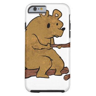 bear roasting marshmallows tough iPhone 6 case