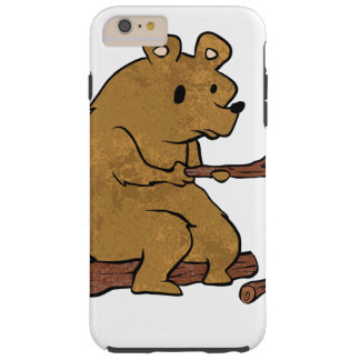 bear roasting marshmallows tough iPhone 6 plus case