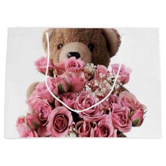 Bear roses large gift bag