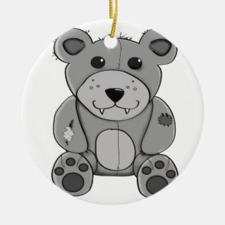 Bear Round Ceramic Ornament