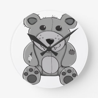 Bear Round Clock