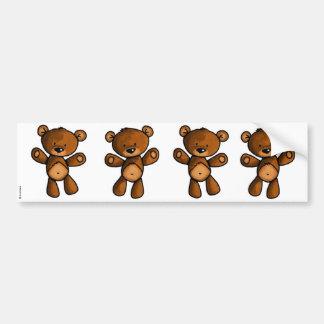 bear scrapbook stickers car bumper sticker