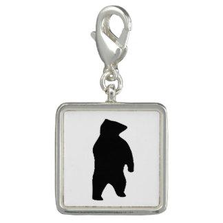 Bear Silhouette Photo Charm