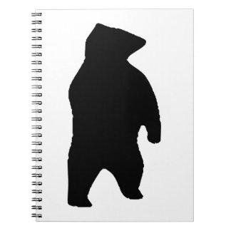 Bear Silhouette Spiral Notebook