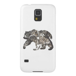 Bear Silhouette With Trees, Wild Nature Galaxy S5 Cover