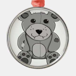 Bear Silver-Colored Round Ornament