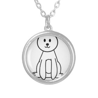 Bear Silver Plated Necklace