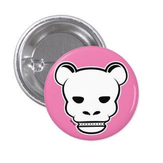 Bear Skull 1 Inch Round Button
