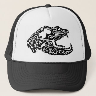 Bear skull trucker hat