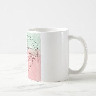 Bear skull watercolour coffee mug
