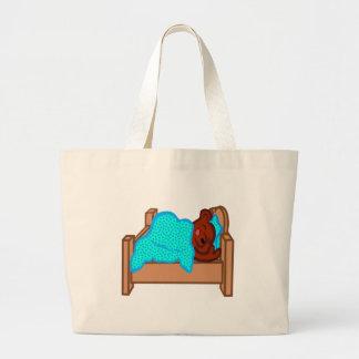 Bear Sleeping Large Tote Bag