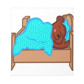 Bear Sleeping Notepad