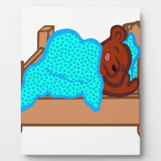 Bear Sleeping Plaque