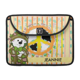 "BEAR SOLDIER 2 CUTE CARTOON  CUTE Macbook Pro 13"" Sleeve For MacBook Pro"