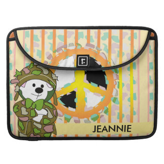 "BEAR SOLDIER 2 CUTE CARTOON  CUTE Macbook Pro 15"" Sleeve For MacBook Pro"