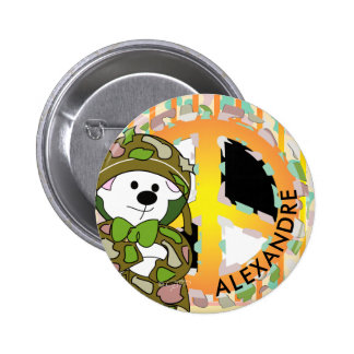 BEAR SOLDIER 2 CUTE CARTOON Small, 1¼ Inch 2 Inch Round Button